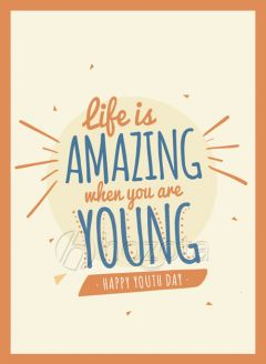 Mẫu thiết kế 021 - life is amazing when you are young